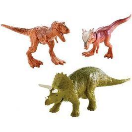 Jurský svět 3ks Mini Dino - hnědý + zelený + hnědý