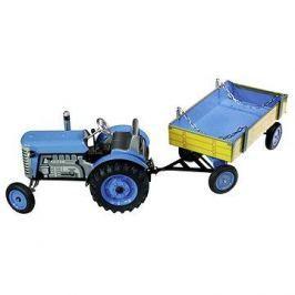 Kovap Traktor s valníkem na klíček modrý