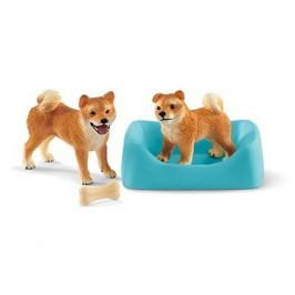 Schleich 42479 Fenka a štěně Shiba Inu