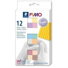 Fimo soft sada 12 barev Pastel