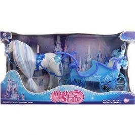 Kůň modrý s kočárem