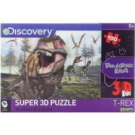 Puzzle T-rex 100 dílků 3D