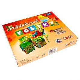 Topa dřevěné kostky kubus - Pohádky 20 ks