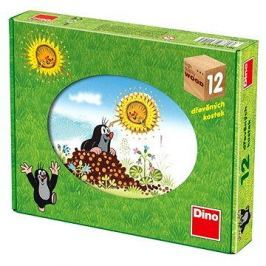 Dino dřevěné kostky kubus - Krtkův rok Kostky