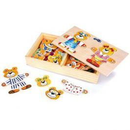 Dřevěné hračky - Oblékání medvědů