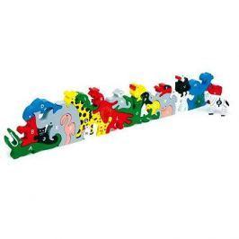 Dřevěné hračky - Zvířata s písmeny a číslicemi Figurky a zvířátka