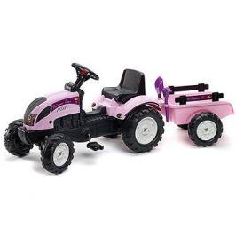 Traktor s valníkem - růžový