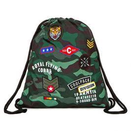 Vak na záda CoolPack Camo Green Badges