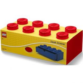 LEGO stolní box 8 se zásuvkou červený