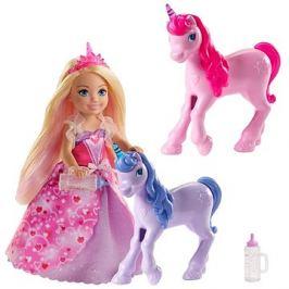 Barbie Princezna Chelsea a hříbátko jednorožce