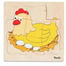Woody Puzzle na desce - Vývoj slepice