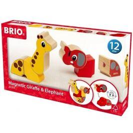 Brio 30284 Magnetická zvířátka žirafa a slon