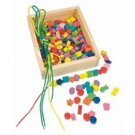 Woody Navlékací perle v krabičce Korálky