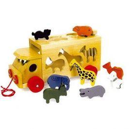 Vkládačka - Dřevěný náklaďák se zvířaty Zoo