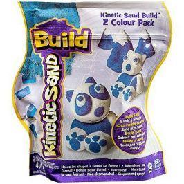 Kinetický písek Build - 2 barevné balení modrá/bílá 450 g