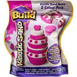 Kinetický písek Build - 2 barevné balení růžová/bílá 450 g