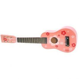 Kytara růžová s květy