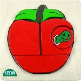 Lena Dřevěné puzzle - jablko