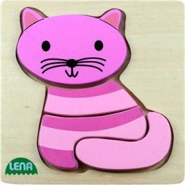 Lena Dřevěné puzzle - kočka