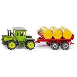 Siku Super – MB traktor s vlekem a balíky slámy