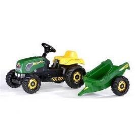 Šlapací traktor Rolly Kid s vlečkou - zelený Traktůrky