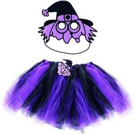Rappa Čarodějnice/halloween fialová - sukně + maska