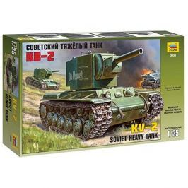 Zvezda Model Kit Z3608 tank – Soviet heavy tank KV-2