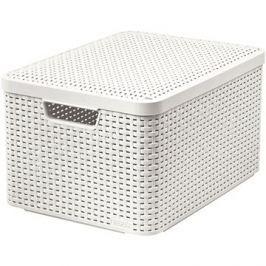 Curver Style box s víkem L krémový s víkem 03619-885