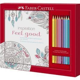 Faber-Castell Dárková Sada Omalovánky Feel Good + Pastelky Grip 2001, 8ks
