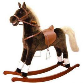 Bino Velký plyšový houpací kůň - hnědý Houpací koně