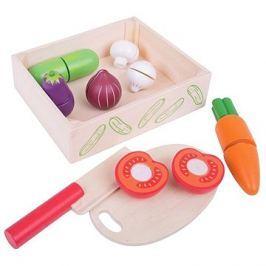 Bigjigs Krájení zeleniny v krabičce Malá domácnost
