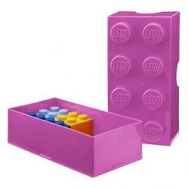 LEGO Box na svačinu 100 x 200 x 75 mm - růžový