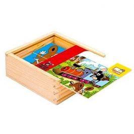 Bino dřevěné kostky - První skládanka s Krtkem