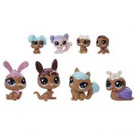 Littlest Pet Shop Frosting Frenzy set 8 ks zvířátek - čokoládová barva