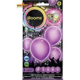 LED balónky - fialové 4 ks