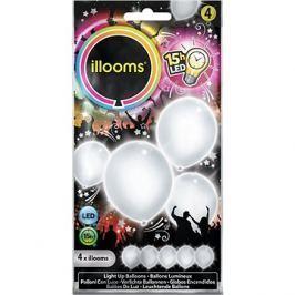 LED balónky - bílé 4 ks