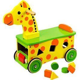 Dřevěný motorický vozík Žirafa