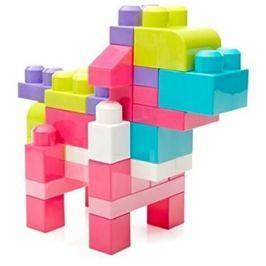 Mega Bloks Pytel kostek (80) růžový