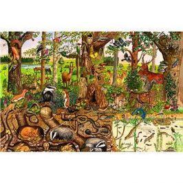 Dřevěné puzzle - Lesní svět