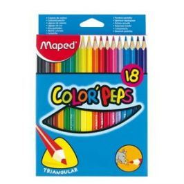 MAPED Color Peps 18 barev trojhranné