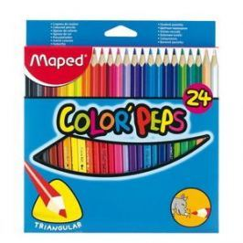 MAPED Color Peps 24 barev trojhranné
