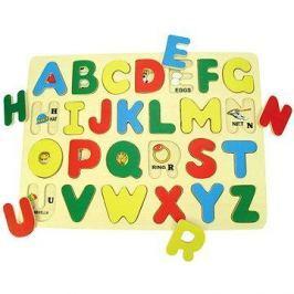 Dřevěné vkládací puzzle - Anglická abeceda s obrázky