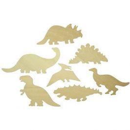 Dřevěné obkreslovací vzory - Obrázky dinosaurů