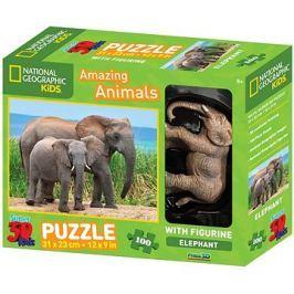 National Geographic 3D Puzzle s figurkou Slon