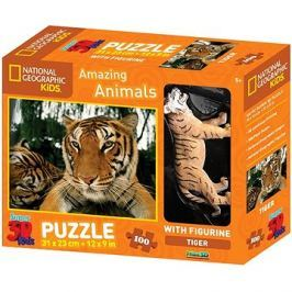 National Geographic 3D Puzzle s figurkou Tygr