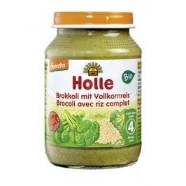 6 x Holle Bio Přesnídávka Brokolice s hnědou rýží, 190g