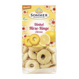 6 x Sommer&Co Bio Špaldové kroužky s citrónem, 150g