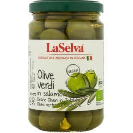 6 x LaSelva Bio Zelené olivy v soli, 310g