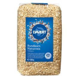 8 x Davert Bio Kulatozrnná rýže neloupaná, 500g