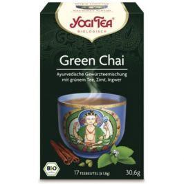 6 x Yogi Bio Zelený čaj Green Chai, 17 pytlíků